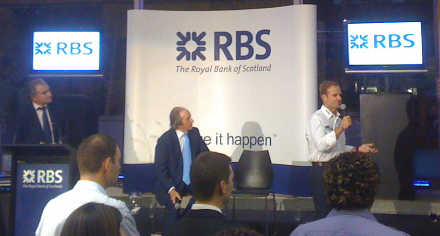 Rubens Barrichello & Sir Jackie Stewart @ an RBS Grand Prix Sponsorship Event - Event Production by E Productions