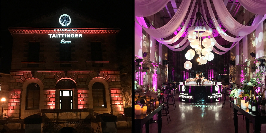Taittinger Launch - Lighting Director Rob Easton for Event Sound & Gigpiglet Productions.